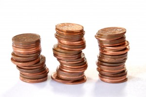 penny piles